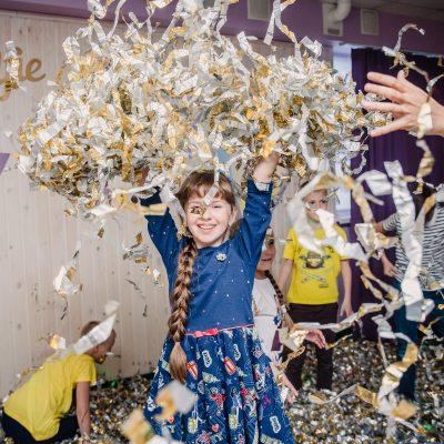 Фольгированное шоу, фото детей, Северодвинск
