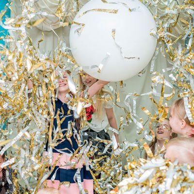 море фольги на детский праздник, будет весело
